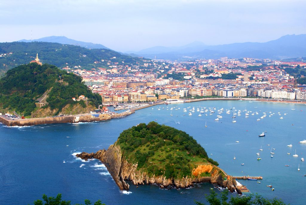 San Sebastian is a city the Basque Country, a region in Spain
