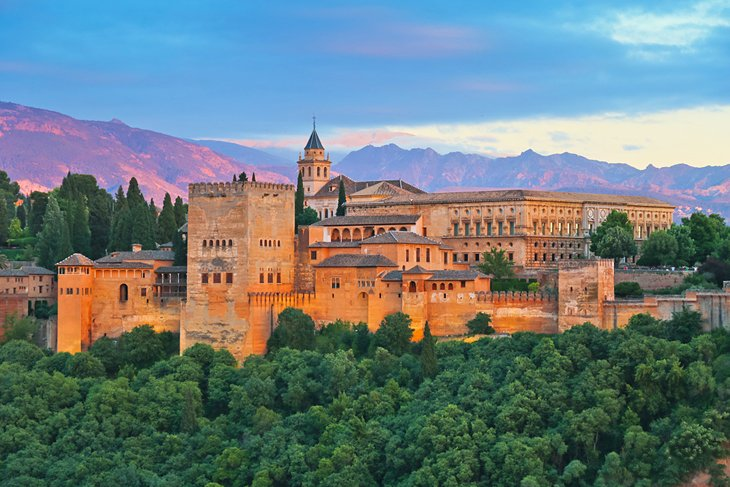 The Alhambra palace Granada Spain.