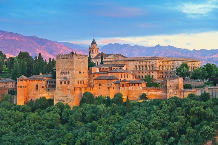 The Alhambra palace Granada Spain.